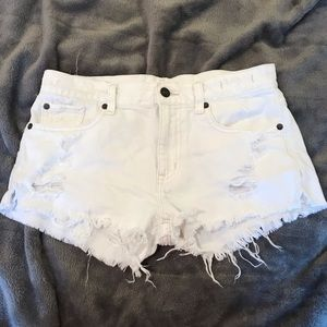 Ralph Lauren White Boyfriend Cut Off White